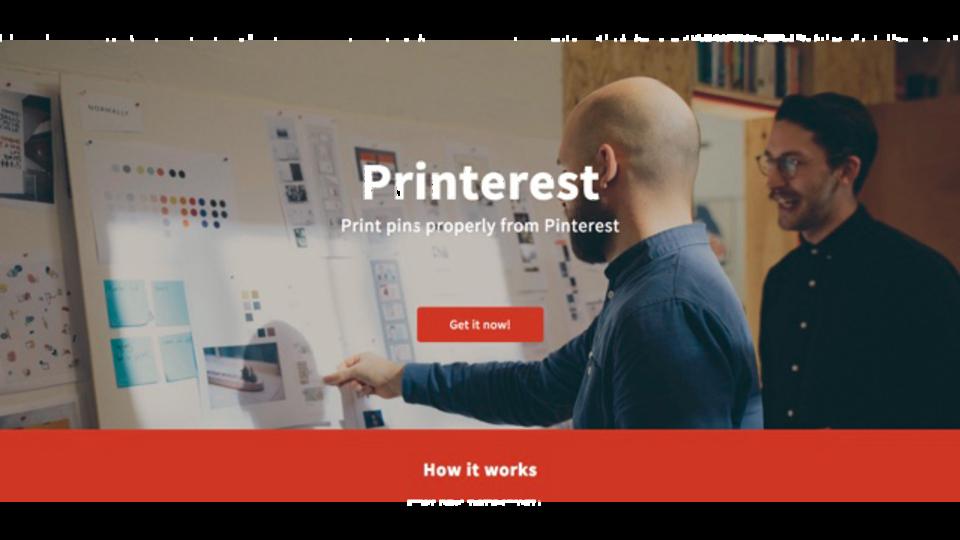 Pinterestのボードに表示されている画像をまとめてプリントアウトできる「Printerest」