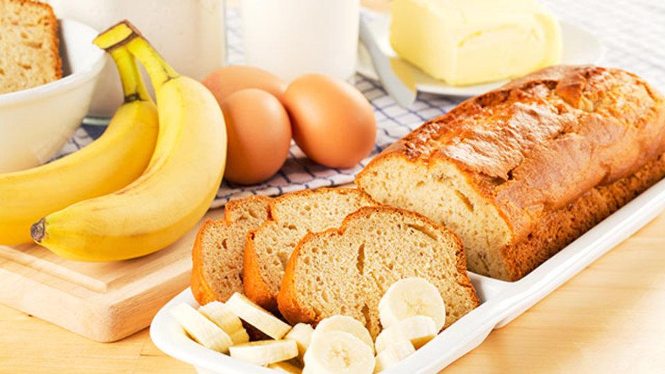 アイスクリームとバナナで作る甘くておいしいパン