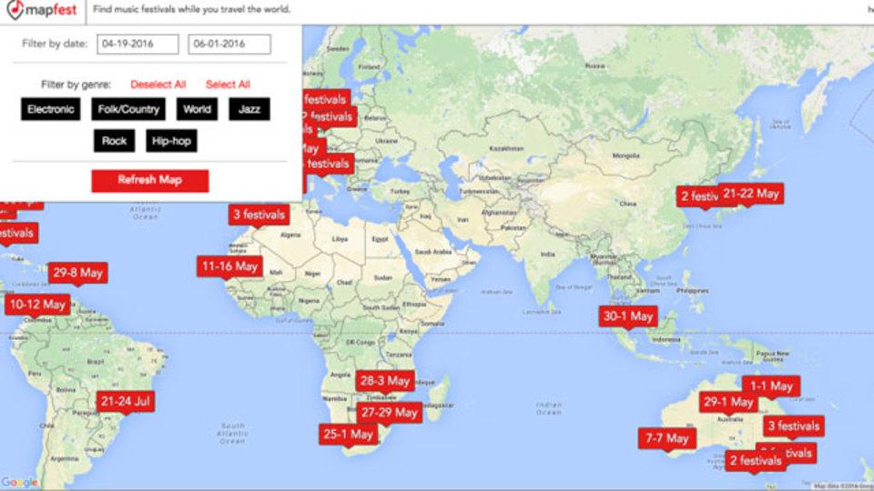 夏のフェスは海外で!世界中のフェスを一発で検索できる「Mapfest」が超便利