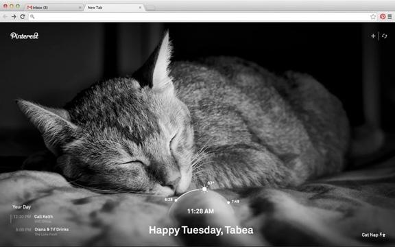 Google Chromeの新しいタブにPinterestの写真を表示できる拡張機能「Pinterestタブ」