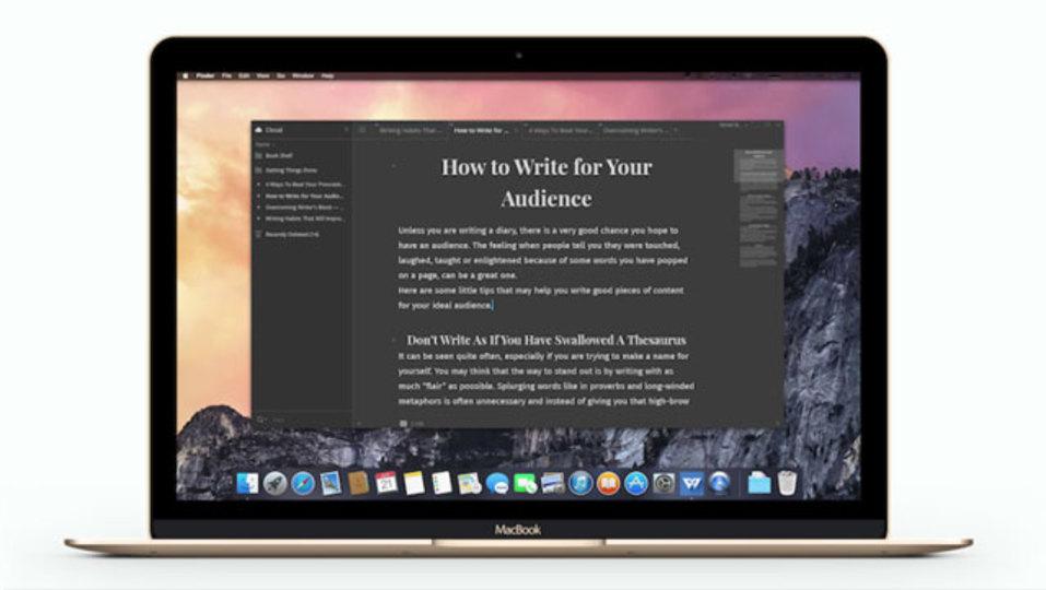 洗練されたライティングアプリ『Write!』がMacでも公開