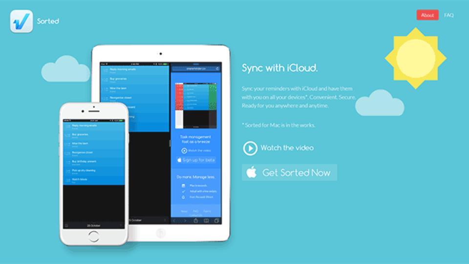 タスク管理をより速くシンプルにするTo-Doアプリ『Sorted』