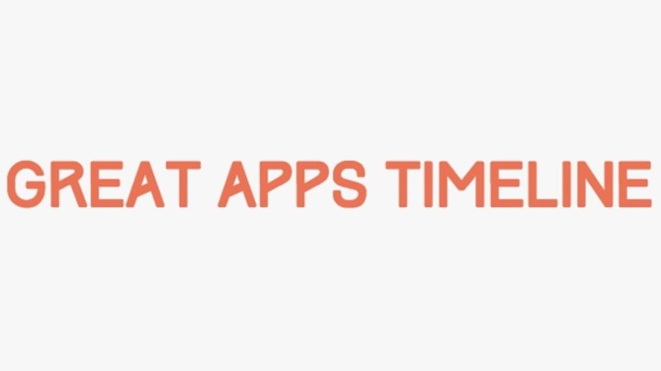 有名アプリのUIを年代ごとに振り返られるサイト「Great Apps Timeline」