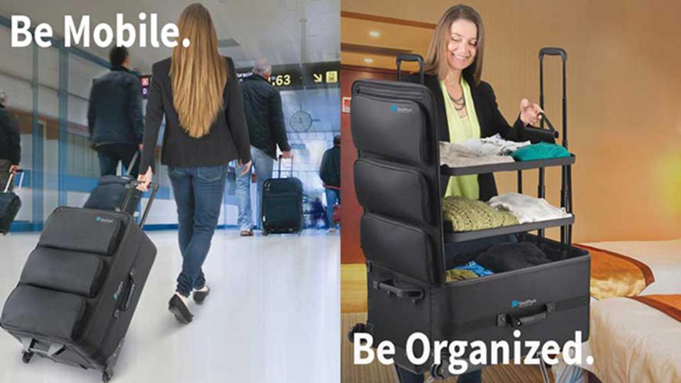 旅行に持っていけるクローゼット。変形スーツケース『ShelfPack』【今日のライフハックツール】