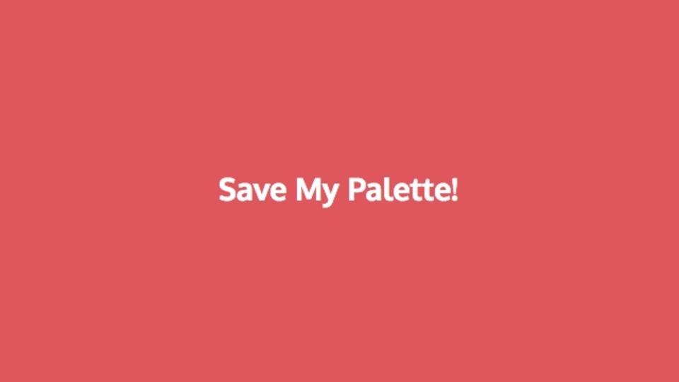 あなたのお気に入りのカラースキームが作成できるサイト「Save My Palette」