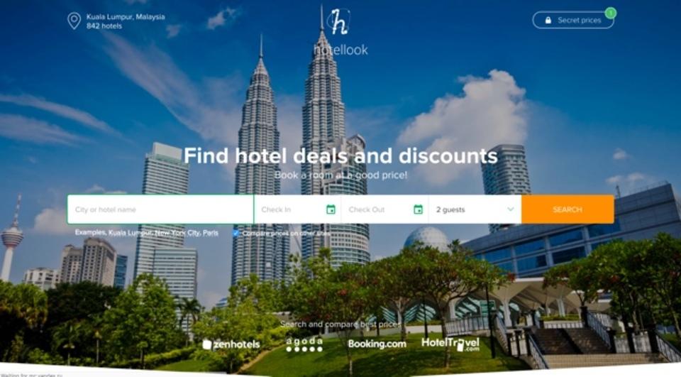 複数の宿泊予約サービスを横断して検索できるサイト「Hotellook.com」