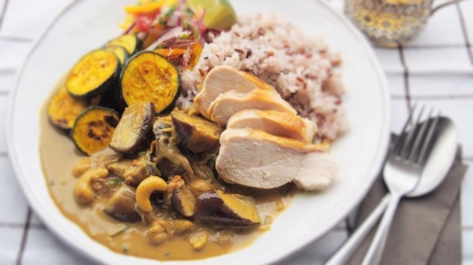 アーユルヴェーダ料理の「茄子のスリランカカレー」
