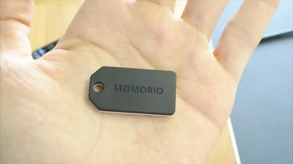 厚さ3.4mmの落し物防止タグ「mamorio」。これは世界から落し物がなくなるかも