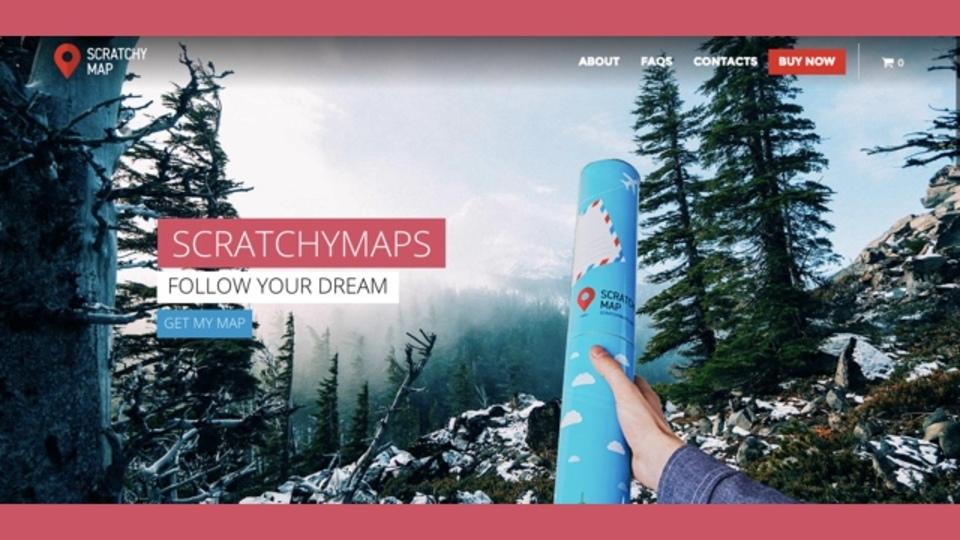 訪れた国をスクラッチのように削って記録できる地図「Scratchy Map」