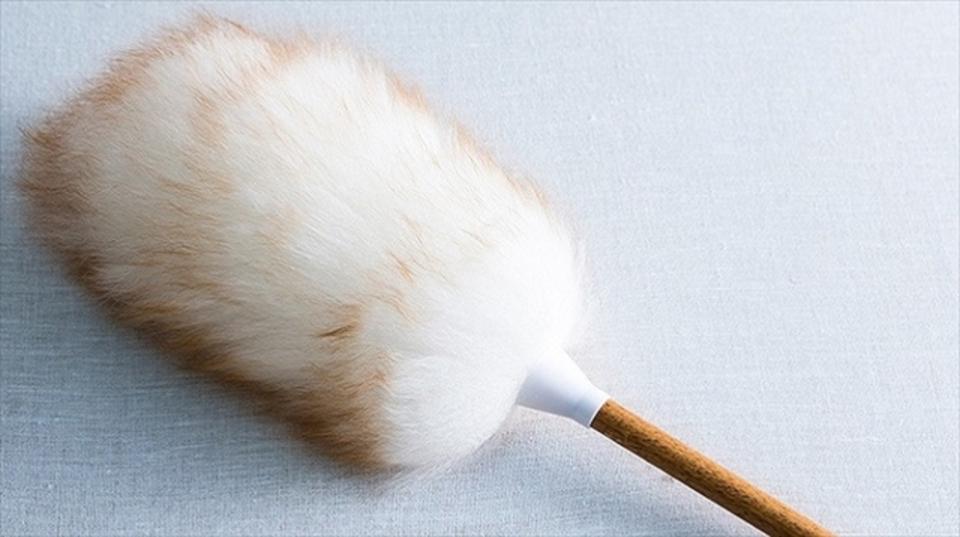 掃除せずに頬ずりしたくなるダスターは「天然羊毛100%」で、ふわっふわ!
