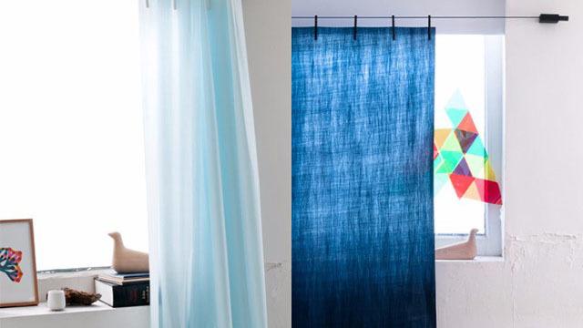 クリップで留めて吊るだけ。採寸不要のカーテン「Ready Made Curtain」
