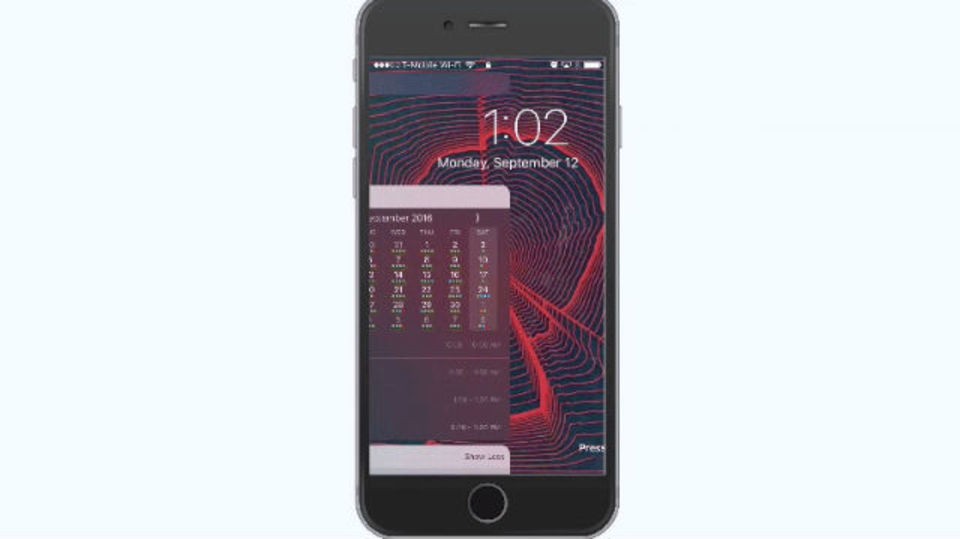 iOS 10の新しいロック画面の操作方法をマスターする