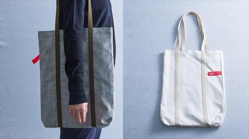 ヨーロッパ輸出用に作られた高級岡山デニムの余り布をおしゃれに。便利な倉敷デニムトート2色