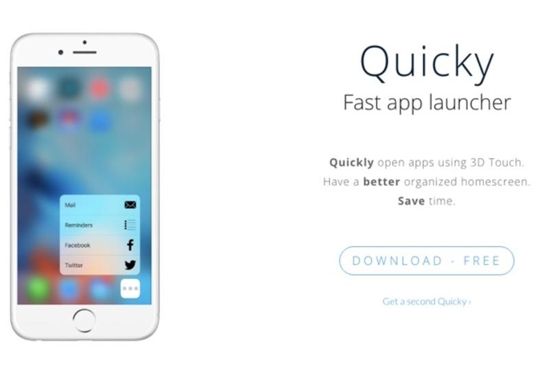 登録したアプリを3D Touchで素早く起動できるアプリ「Quicky」