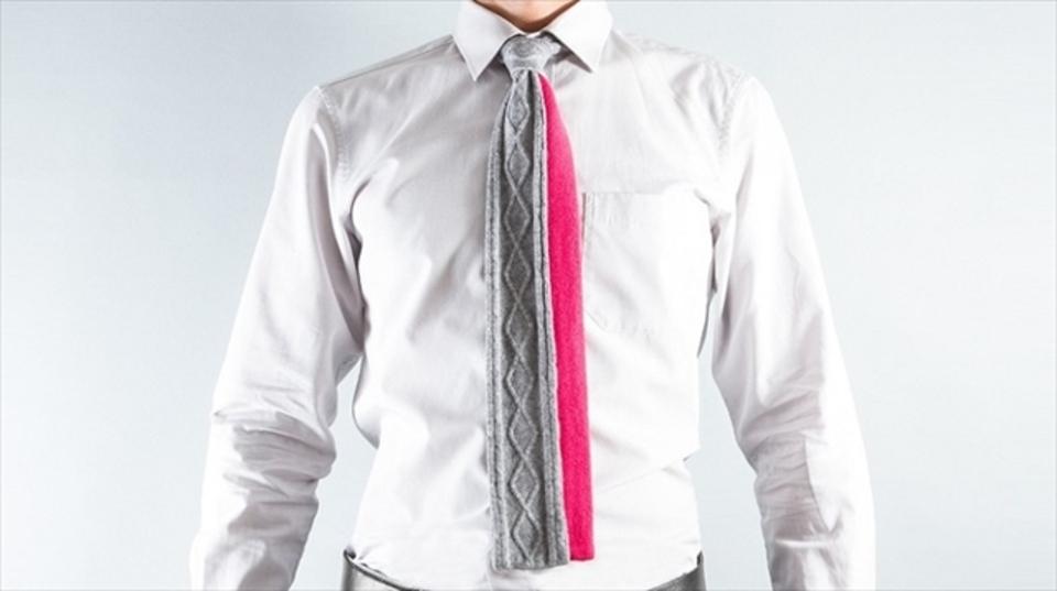 秋のオフィスファッションに毛糸で出来たネクタイを。自分だけの「ニットタイ」をオーダーできるキット