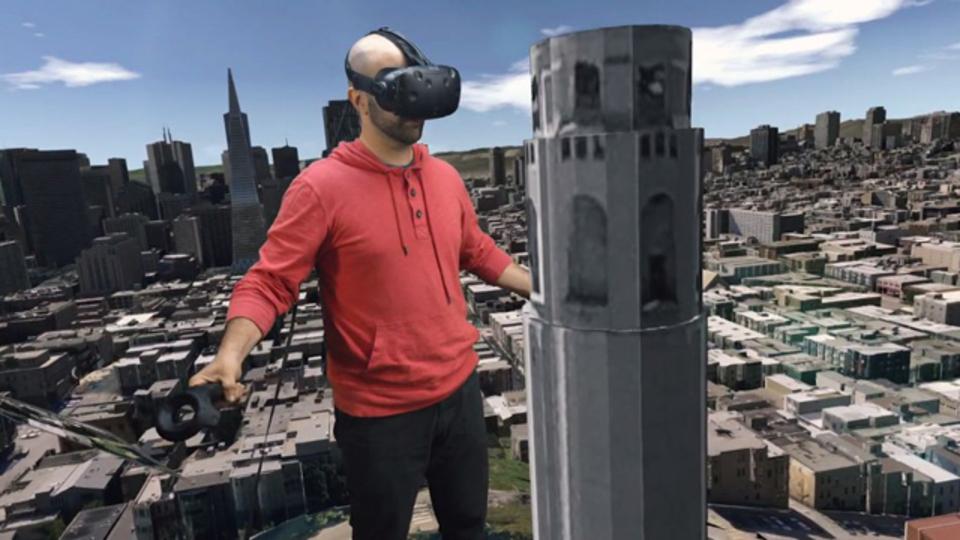 まるでゴジラの気分。巨人になって街を歩く「City VR」