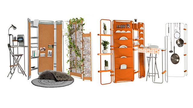 持ち運べてしまう家具セット「Lynko modular furniture system」が「ミニマルな1人暮らし」を実現する