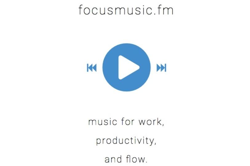 仕事に集中できる音楽を延々と流せるサイト「focusmusic.fm」