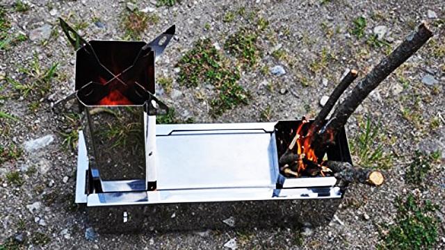 燃料は拾った木でOK! アウトドアの荷物を減らせる携帯式薪ストーブ「マキコン」