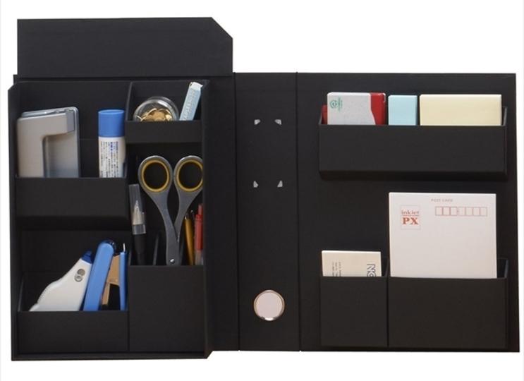 書類のように小物をファイルできる紙箱型収納用品「ライフスタイルツール」