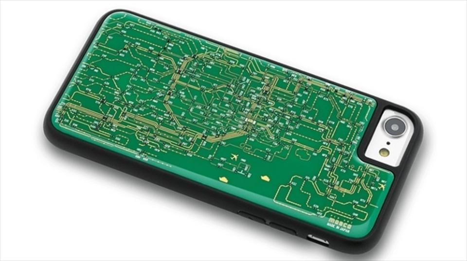初対面でも話が弾みそう。日本の町工場の情熱を組み込んだiPhoneケース「基板回路線図」