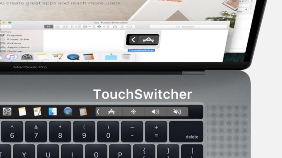 新型MacBook ProのTouch BarにDockのアプリ一覧を表示できるアプリ「TouchSwitcher」