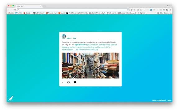 Google Chromeの新規タブに新着ツイートを表示できる拡張機能「Birdy」