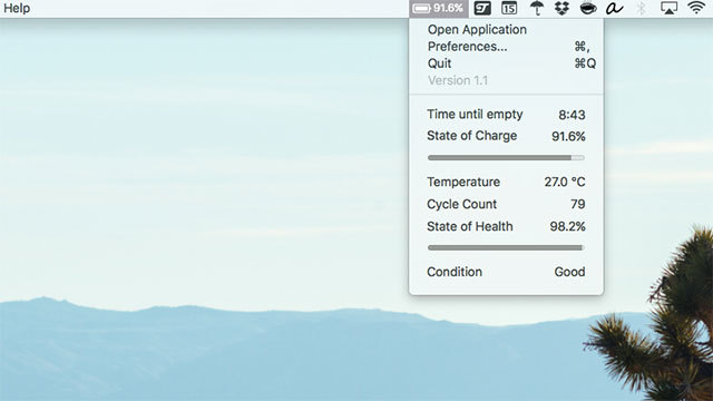 MacBookの「バッテリー残り時間表示」を復活させる方法
