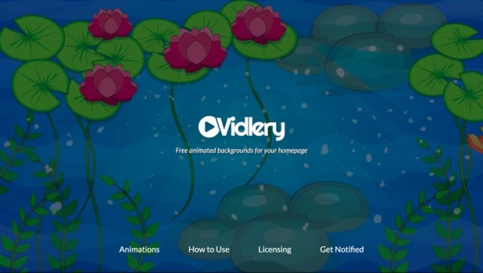 Webサイトの背景に使える動くアニメーションが手に入るサイト「Vidlery」