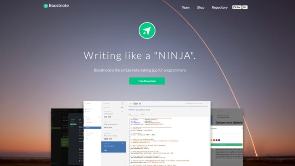 100種類の言語に対応したプログラマー向けノートアプリ「Boostnote」