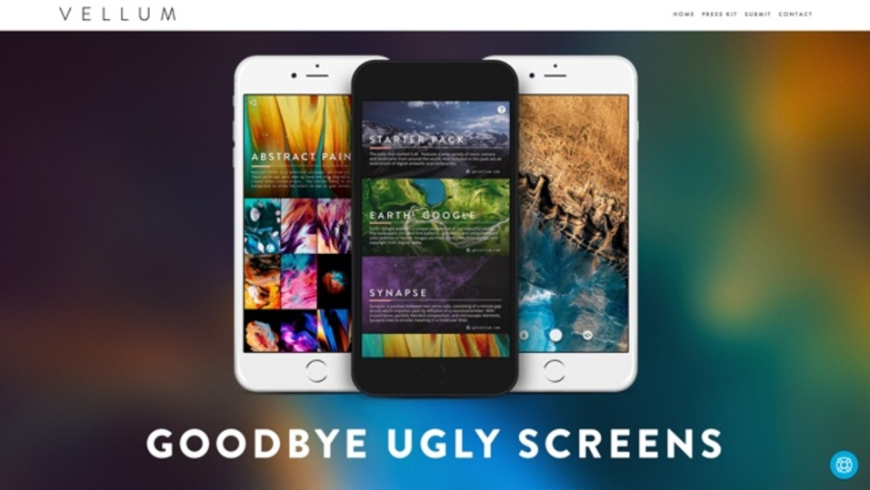 iPhoneの素敵な壁紙がダウンロードできるアプリ「Vellum」