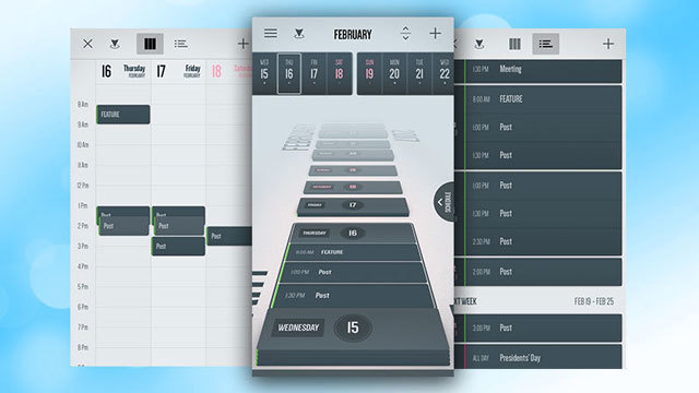 3Dタイムライン風表示で予定が時系列順に見やすいカレンダーアプリ『Vantage Calendar』