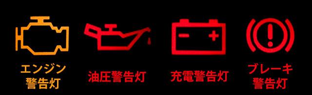わかりにくい警告灯の例