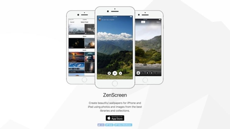 10万点以上のiPhone用壁紙が探せるアプリ「ZenScreen」