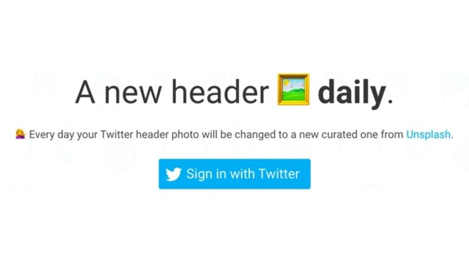 Twitterのプロフィールヘッダーを日替わりで更新してくれるサイト「A new header photo daily」