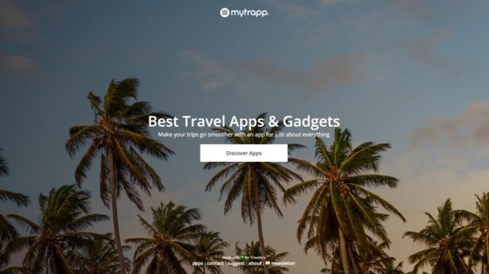 旅行する際にぜひとも使ってみたいアプリをまとめたサイト「MyTrapp」