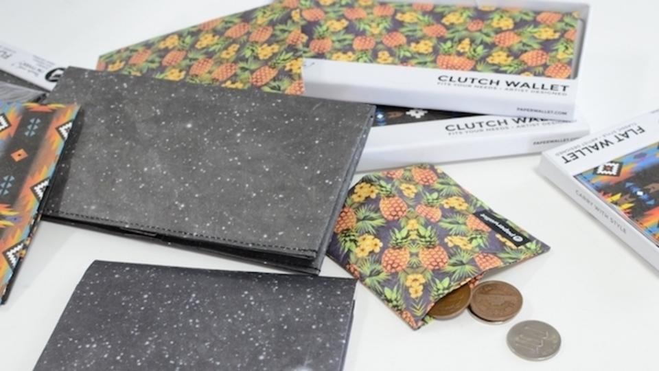 軽量・収納力・耐水性を兼ね備えた財布「paperwallet」を触ってみた