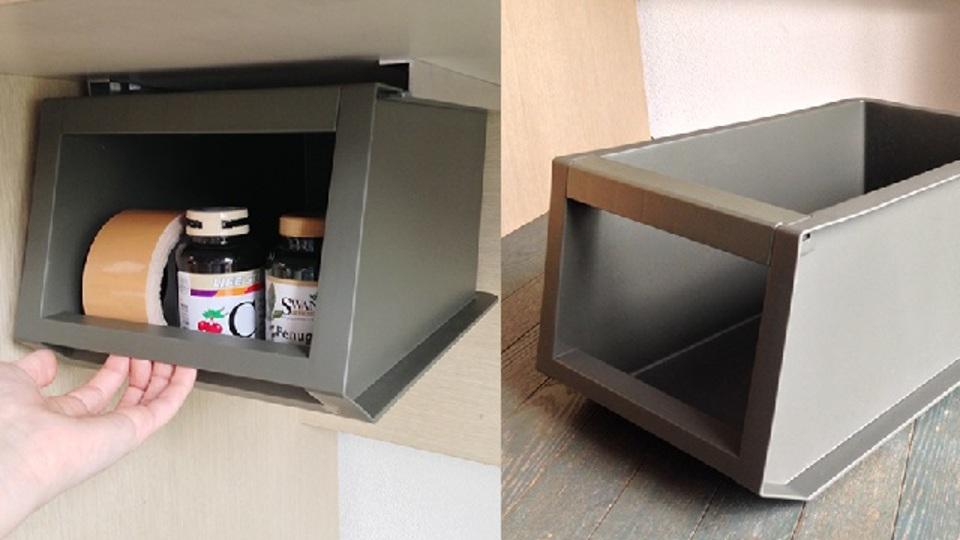 カインズの収納ボックスで、机の引き出しをDIY