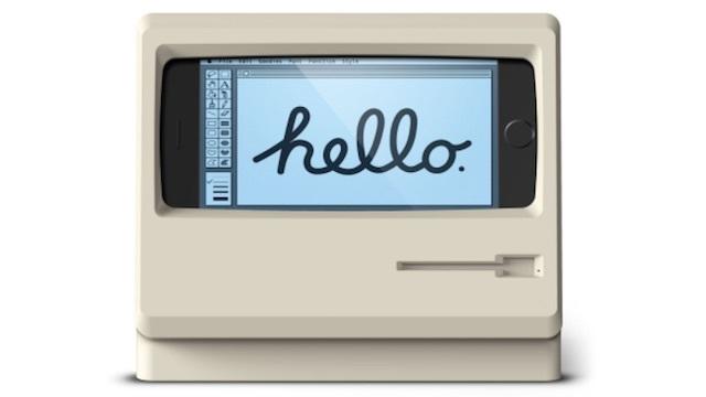 初期マッキントッシュ風のiPhoneスタンド「Elago M4 STAND」