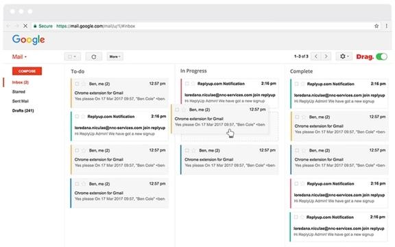 Gmailの全メールをタスクリストに変身させる拡張機能「Drag」
