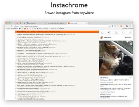 ウェブページを閲覧中にいつでもInstagramを確認できる拡張機能