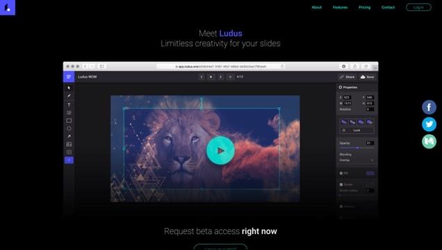 超クリエイティブなスライドが作成できるサービス「Ludus」