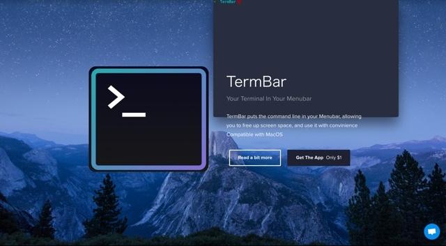 Macのメニューバーからターミナルが開けるツール「TermBar」