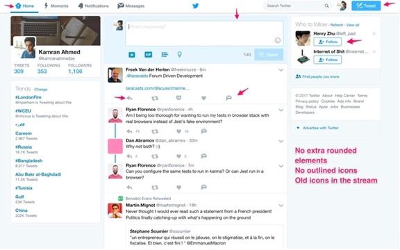 Twitterを古いデザインに戻せる拡張機能「Twitter - Old design」