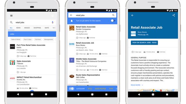 「Google for Jobs」を使って就活時間を節約