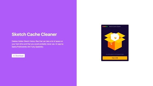 Sketchの履歴に残る不要なファイルを一括削除できる「Sketch Cache Cleaner」