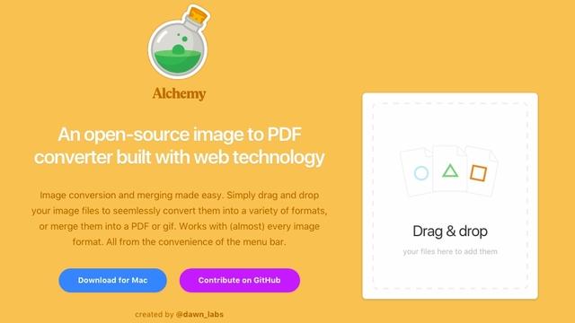 超簡単に画像変換ができるアプリ「Alchemy」