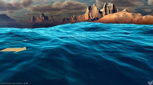 海に潜ったような気分が味わえるサイト「VirtOcean」