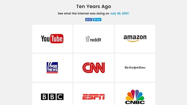 AppleやYouTubeはかつてこんなだった。10年前のウェブデザインを振り返られるサイト「Ten Years Ago」