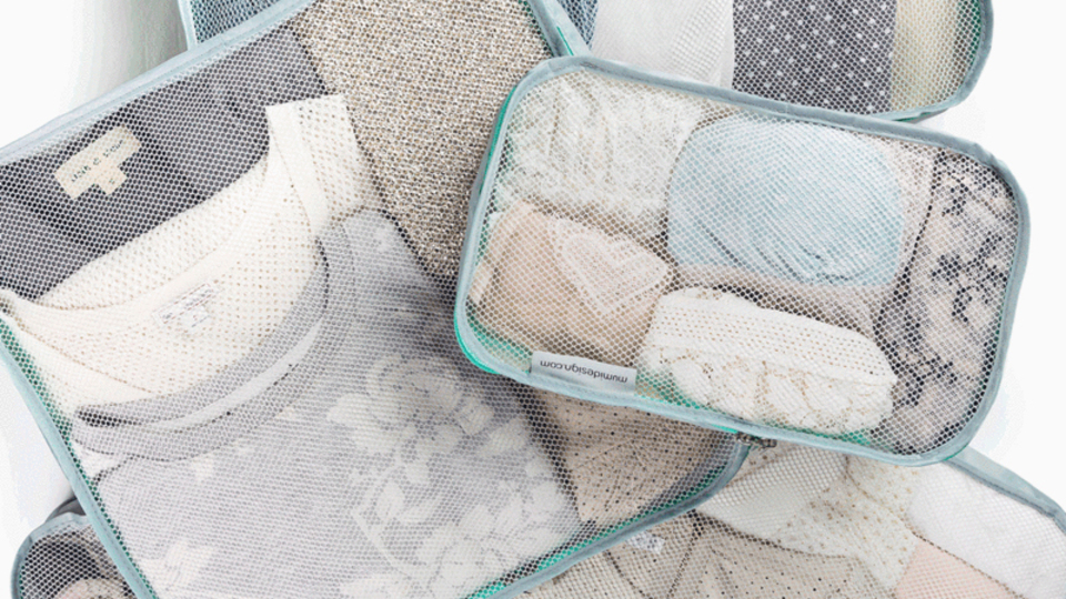 荷物をコンパクトかつ機能的に収納できる小分け袋『Packing Cubes』【今日のライフハックツール】